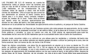 Aparcar por Las Canteras: 2.500 plazas para 18.000 coches. ( www.lagacetadecanarias.net)