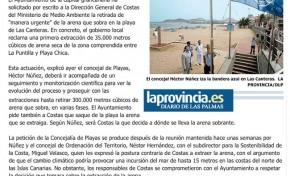 La ciudad pide a Costas que retire de manera urgente la arena que sobra en Las Canteras. ( Laprovincia.es)