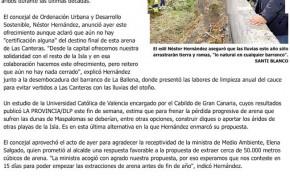 El Ayuntamiento de Las Palmas de Gran Canaria ofrece arena de Las Canteras para regenerar Maspalomas. ( Laprovincia.es)