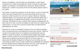El excedente de arena de Las Canteras se retira este año. ( Canarias7.es)