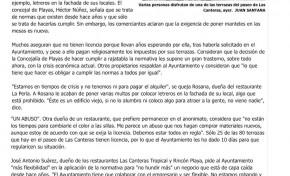 Los propietarios de terrazas de Las Canteras acogen a regañadientes el ultimátum para regular su situación. ( Laprovincia-dlp)