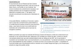 Un vertido fecal desaconseja el baño en La Puntilla ( www.laprovincia.es).