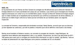 Barrios corrige los 48 defectos del alumbrado de Las Canteras ( www.laprovincia.es).