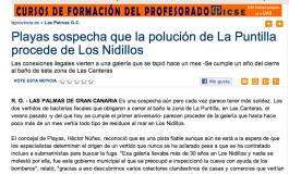 Playas sospecha que la polución de La Puntilla procede de Los Nidillos ( www.laprovincia.es).