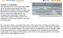 Cruz Roja pide el cierre de Las Canteras con fuerte oleaje ( www.laprovincia.es).