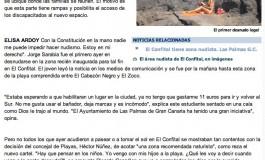 El primer desnudo legal ( www.laprovincia.es).
