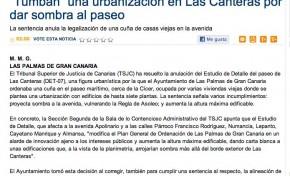 ´Tumban´ una urbanización en Las Canteras por dar sombra al paseo ( laprovincia.es).