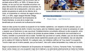 El lleno hotelero reactiva la restauración en Las Canteras ( www.laprovincia.es).