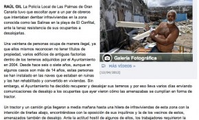 La policía obliga a los chabolistas a evacuar El Confital ( laprovincia.es).
