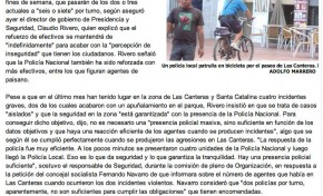 La policía dobla la vigilancia en Las Canteras. ( laprovincia.es).