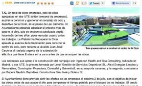 Tres grupos aspiran a construir el centro de la Cícer ( laprovincia.es).
