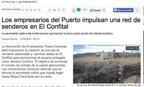 Los empresarios del Puerto impulsan una red de senderos en El Confital (laprovincia.es).