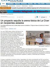 Un proyecto sepulta la arena tóxica de La Cícer en recipientes aislados (laprovincia.es).