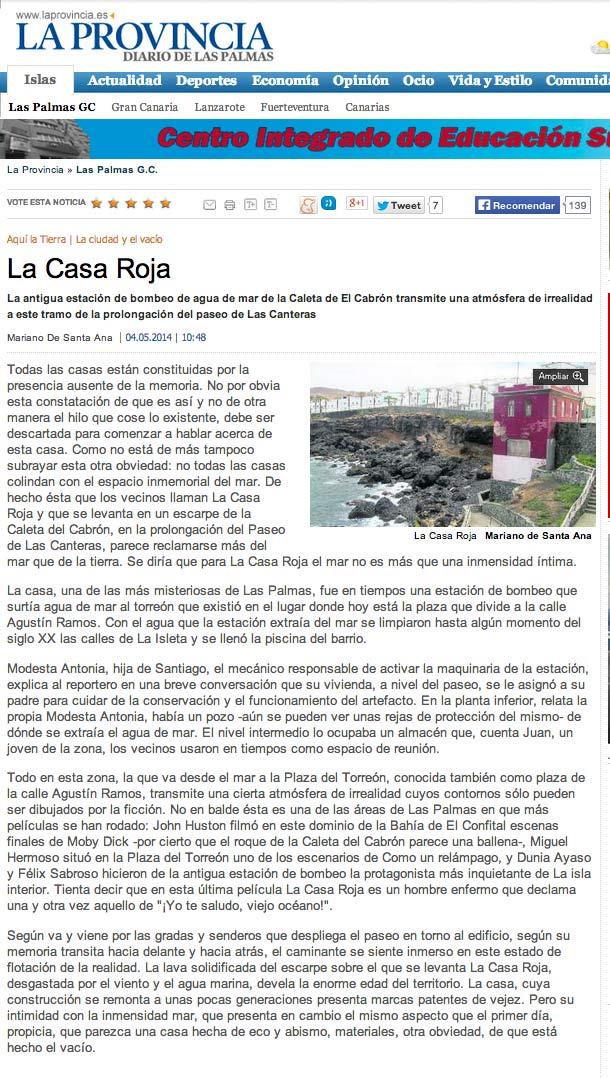 La Casa Roja ( laprovincia.es).