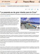 """""""La pasarela es de gran interés para la Cícer"""" ( laprovincia.es)."""