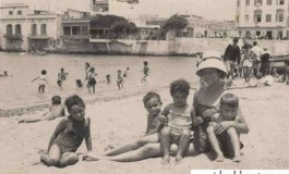 Chona y niños en La puntilla