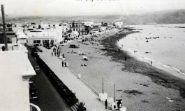 Vista de la playa con marea baja 1938-colecc.Esther Suárez