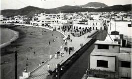 Vista de la playa y de la C/Sagasta en el 38-colecc.Esther Suárez