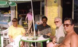 Rafa Morera, Pepe J. Delgado, Ramón y Maria del carmen Febles en el desaparecido Restaurante Royal