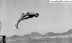 Historia de tres fotos y un trampolín en la Peña la Vieja