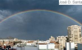 Arco iris sobre el Istmo