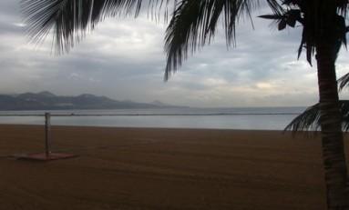 Nuberio en la playa