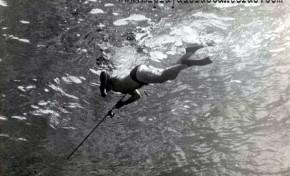 Submarinista a vista de mero. 1950