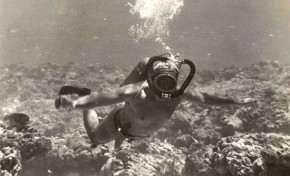 Inmersión cerca del Peñón en 1950