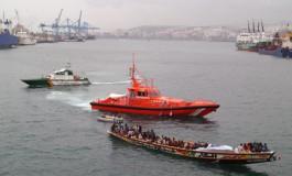 La actualidad manda-Llega el primer cayuco al Puerto de Las Palmas-