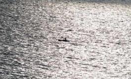 Remando en una mar plata