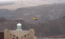 El helicóptero de rescate sobrevuela el Auditórium