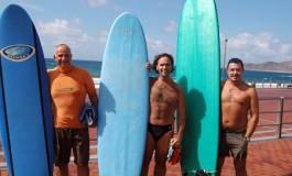 Los cursillistas de nuestro ultimo curso surfero de septiembre