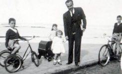Bernardino Correa Viera con su hija Margarita de la mano