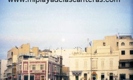 Los edificios de la Playa Chica -sobre 1988-1989-.