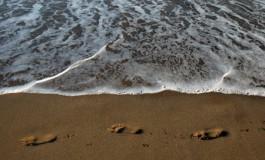 Por mucho que se resistan tus huellas a desaparecer, llegara el momento que una suave ola las borrará para siempre.