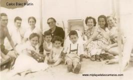 Los Báez Aleman y Martín Vera en Las Canteras en 1953.
