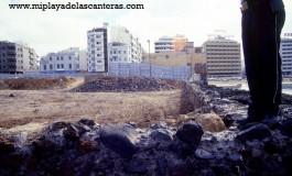 Las obras en el solar de La Puntilla- Sobre 1982-foto: Tato Gonçalves.