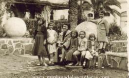 Raymond, Carmen, Bebe, Paquito, Nory, Maricarmen y Columba en el Parque San Catalina, sobre 1960. colecc. Famila Herrera.