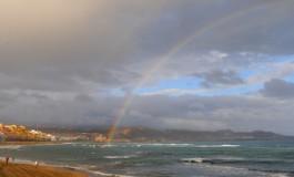 La mañana del 11S nos regala un espectacular arcoiris.