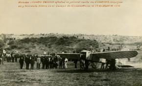 El Bleriot XI, el primer artefacto que surco el cielo de Gran Canaria, despegó desde el desaparecido municipio de San Lorenzo