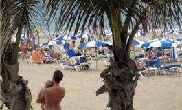 Las Canteras, playa sosegada.