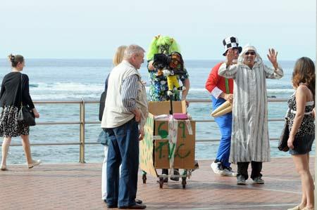 El carnaval invade todos los rincones de la ciudad.