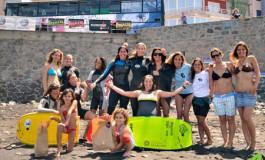 Se celebró en la playa de La Cicer el Campeonato Femenino de Surf y BodyBoard de Canarias. Foto Alexis Rodríguez.