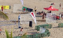 El mejor tenis playa se juega en la playa de Las Canteras.