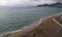 La Playa Chica a vista de pájaro.