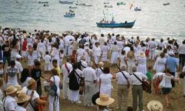 Las Canteras se tiñó de blanco ( foto. Marianela Padrón Noda).