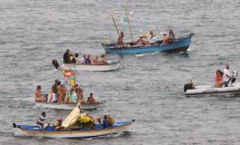 La Virgen marinera cumplió un año más con su paseo por la Bahía de Las Canteras.