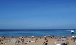 Azul playa de Las Canteras.