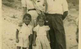 Padres y hermanos de Juan Morales Brito en El Confital, sobre 1948-colecc. Familia Morales Brito.