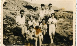 Familia de Juan Morales Brito en El Confital, sobre 1952-colecc. Familia Morales Brito.